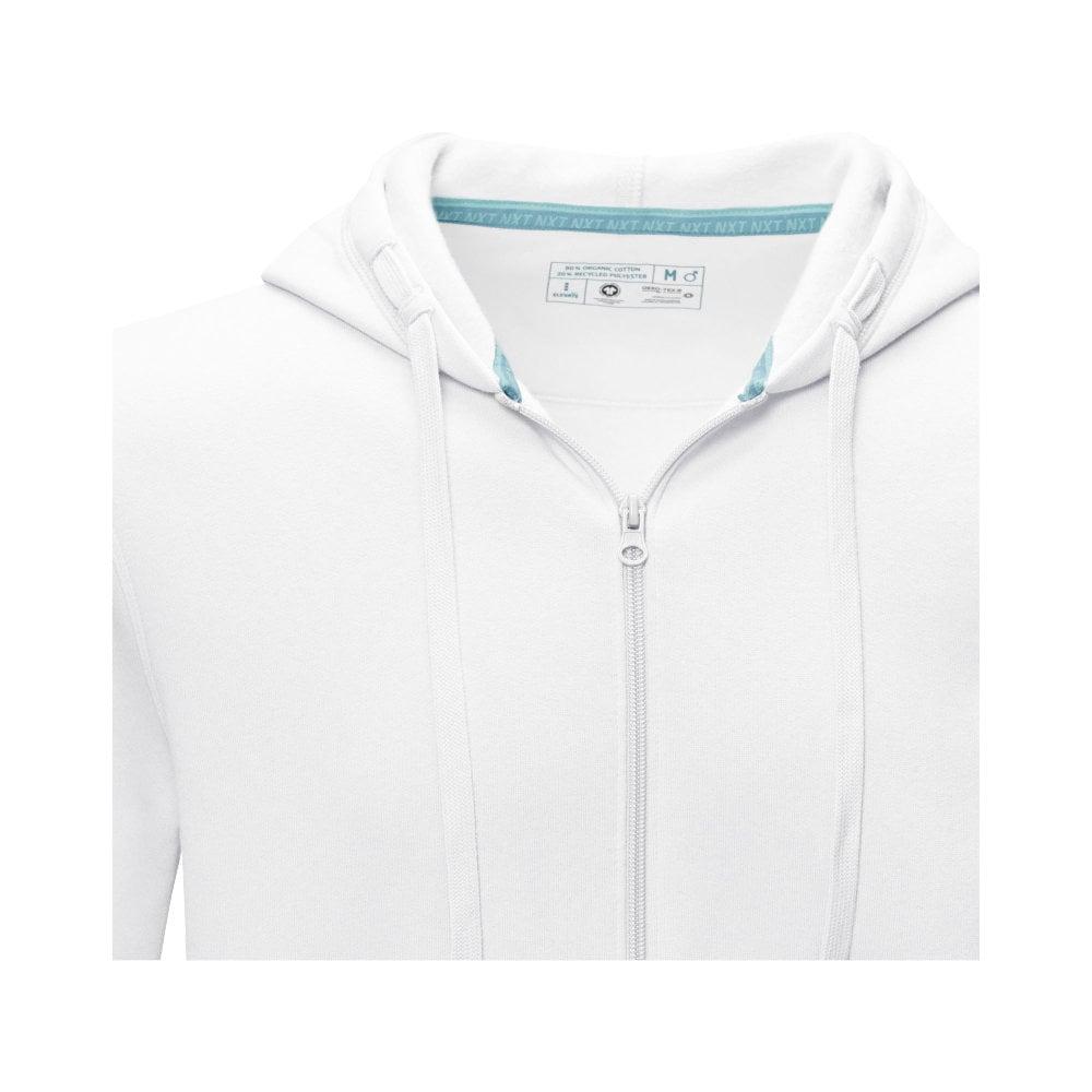 Męska organiczna bluza na suwak z kapturem Ruby wykonana z GRS z recyclingu i posiadająca certyfikat GOTS