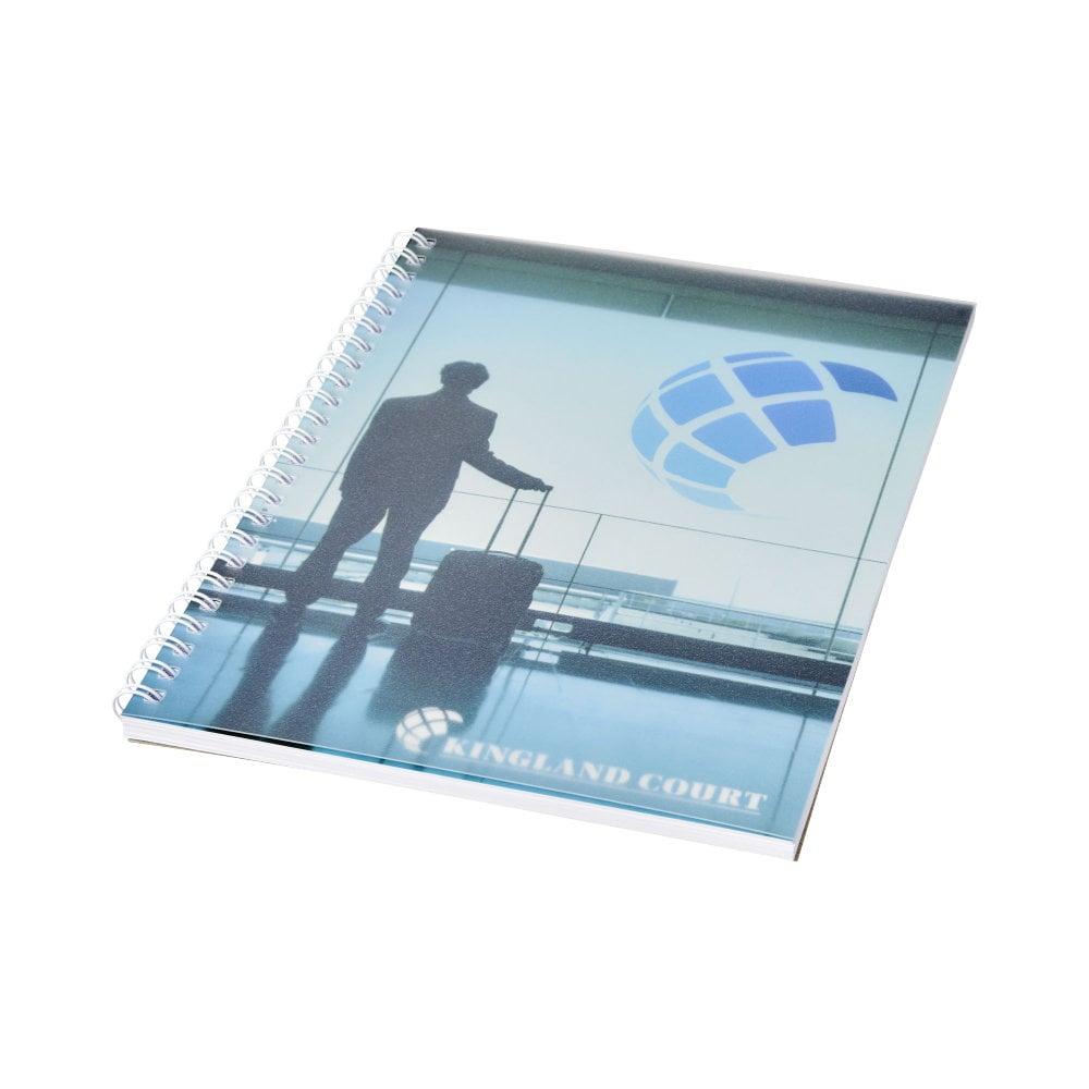 Notatnik Desk-Mate® w formacie A5 z przedziałką i okładką wykonaną z PP