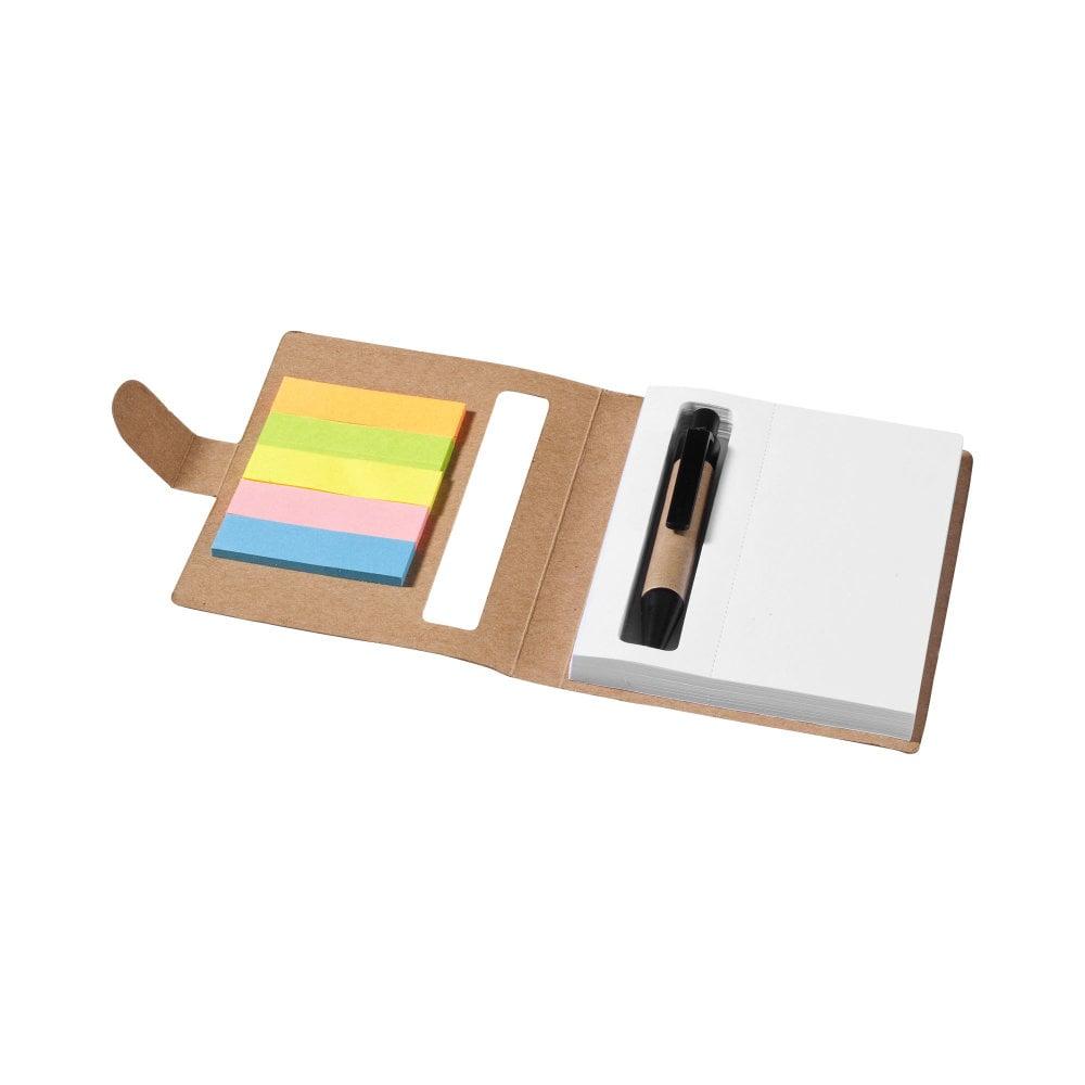 Notatnik z karteczkami samoprzylepnymi i długopisem Reveal