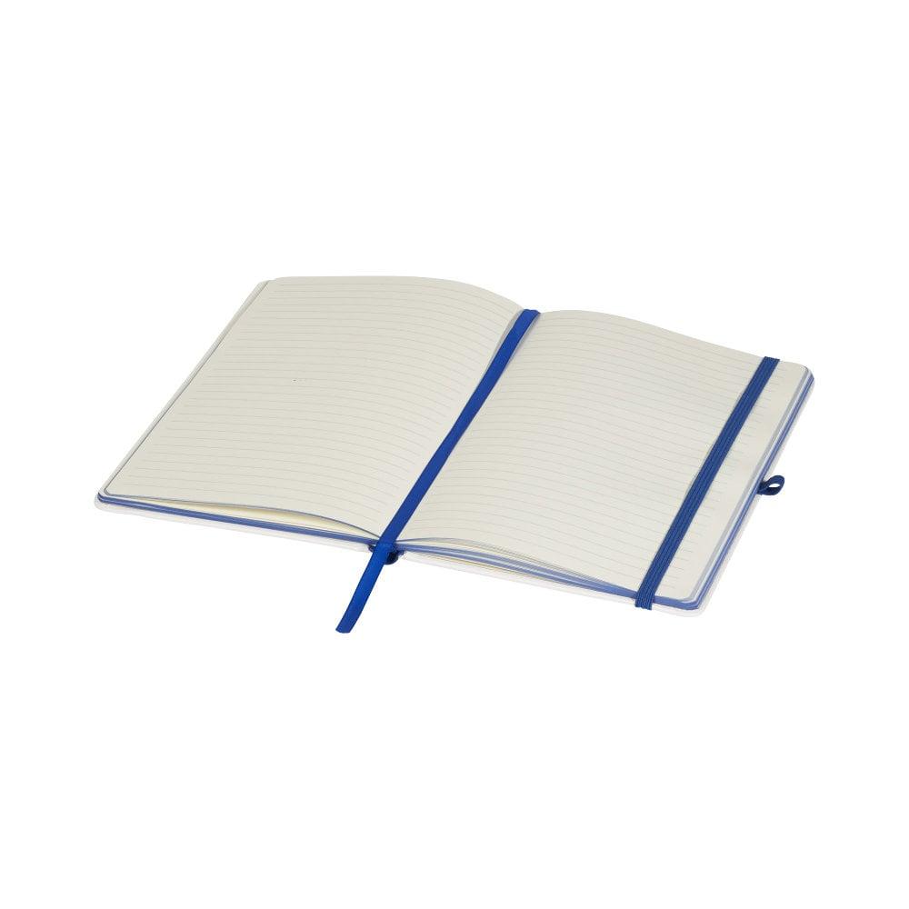 Notatnik z okładką z PU i kolorowym grzbietem do wydruków cyfrowych