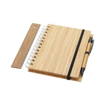 Notes bambusowy B6 z długopisem i linijką Franklin