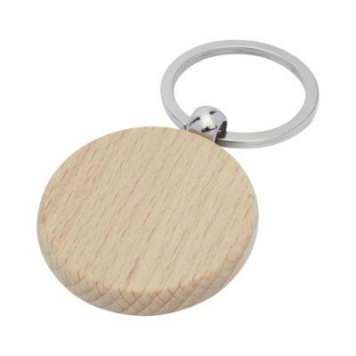 Okrągły brelok do kluczy Giovanni z drewna bukowego