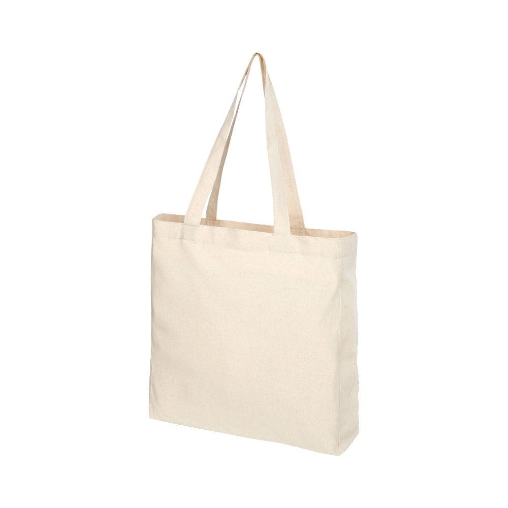 Pheebs poszerzana torba na zakupy z bawełny z recyclingu o gramaturze 210 g/m2