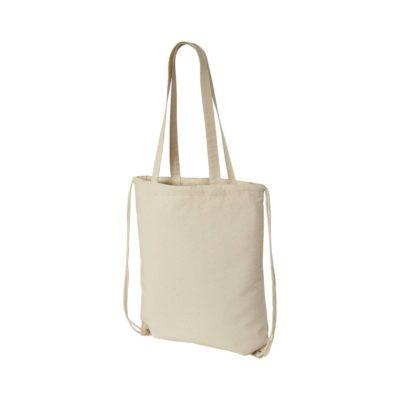 Plecak Eliza wykonany z bawełny o gramaturze 240 g/m² ze sznurkiem ściągającym