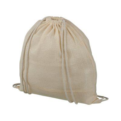 Plecak Maine z siatki bawełnianej ze sznurkiem ściągającym