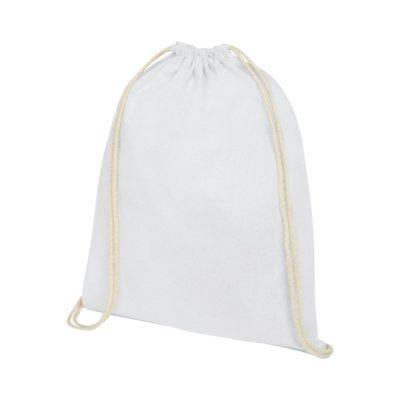Plecak Oregon wykonany z bawełny o gramaturze 140 g/m² ze sznurkiem ściągającym