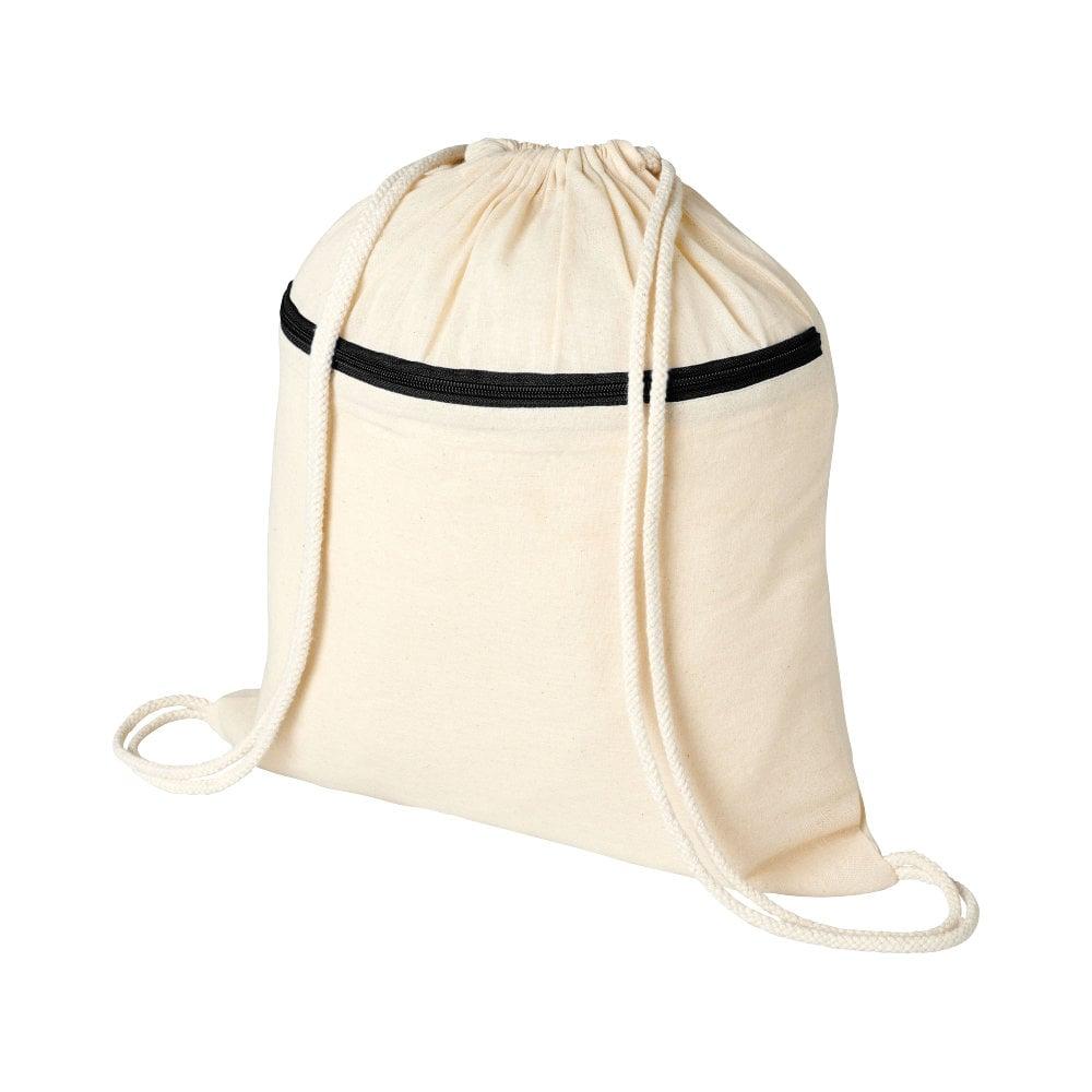 Plecak Oregon z zamkiem błyskawicznym i sznurkiem ściągającym