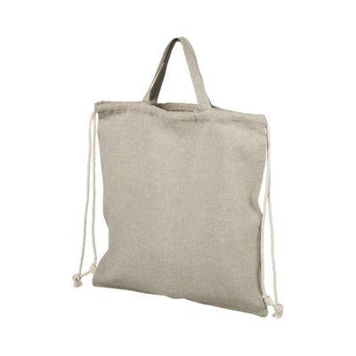 Plecak Pheebs z bawełnianym sznurkiem ściągającym z recyklingu o gramaturze 150 g/m²