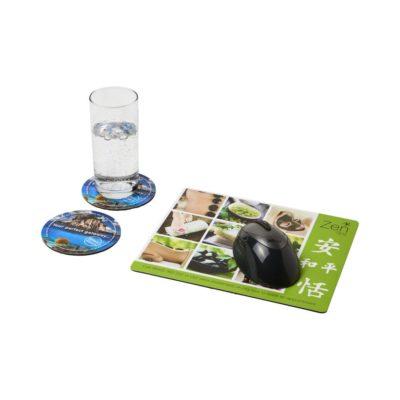 Podkładka pod mysz Q-Mat® i zestaw podkładek pod naczynia combo 2