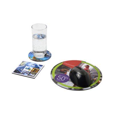 Podkładka pod mysz Q-Mat® i zestaw podkładek pod naczynia combo 4