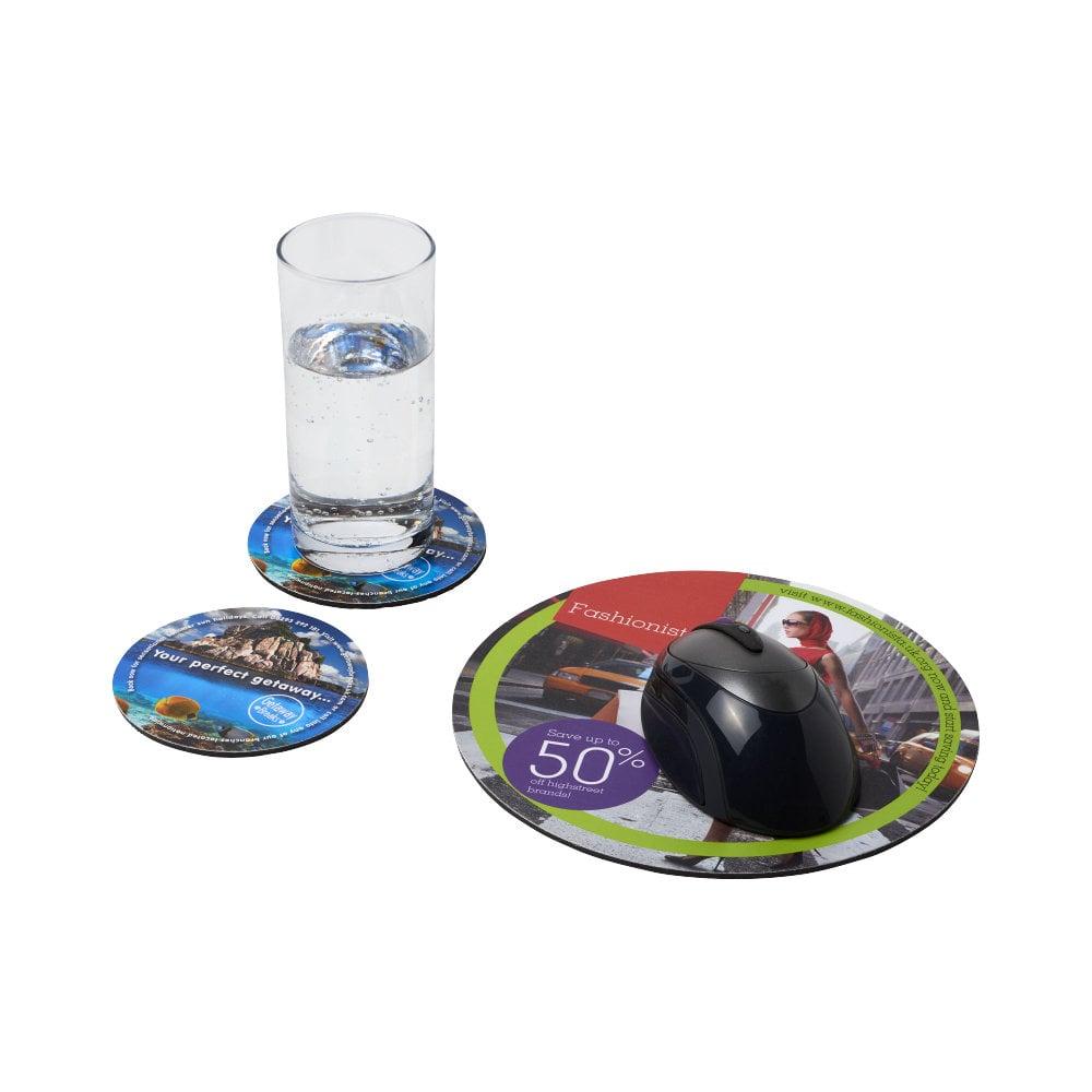 Podkładka pod mysz Q-Mat® i zestaw podkładek pod naczynia combo 5