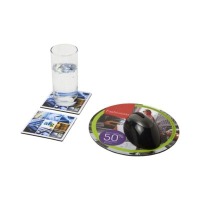 Podkładka pod mysz Q-Mat® i zestaw podkładek pod naczynia combo 6