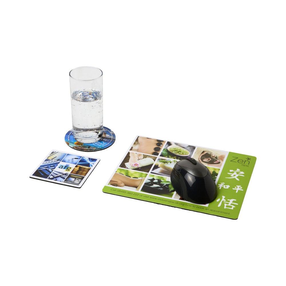 Podkładka pod mysz Q-Mat® w zestawie z podkładkami pod kubek combo 1