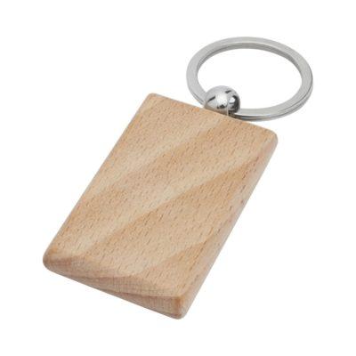Prostokątny brelok do kluczy Gian z drewna z brzozy