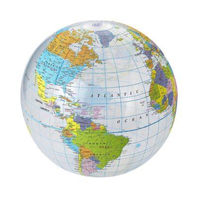 Przezroczysta piłka plażowa Globe