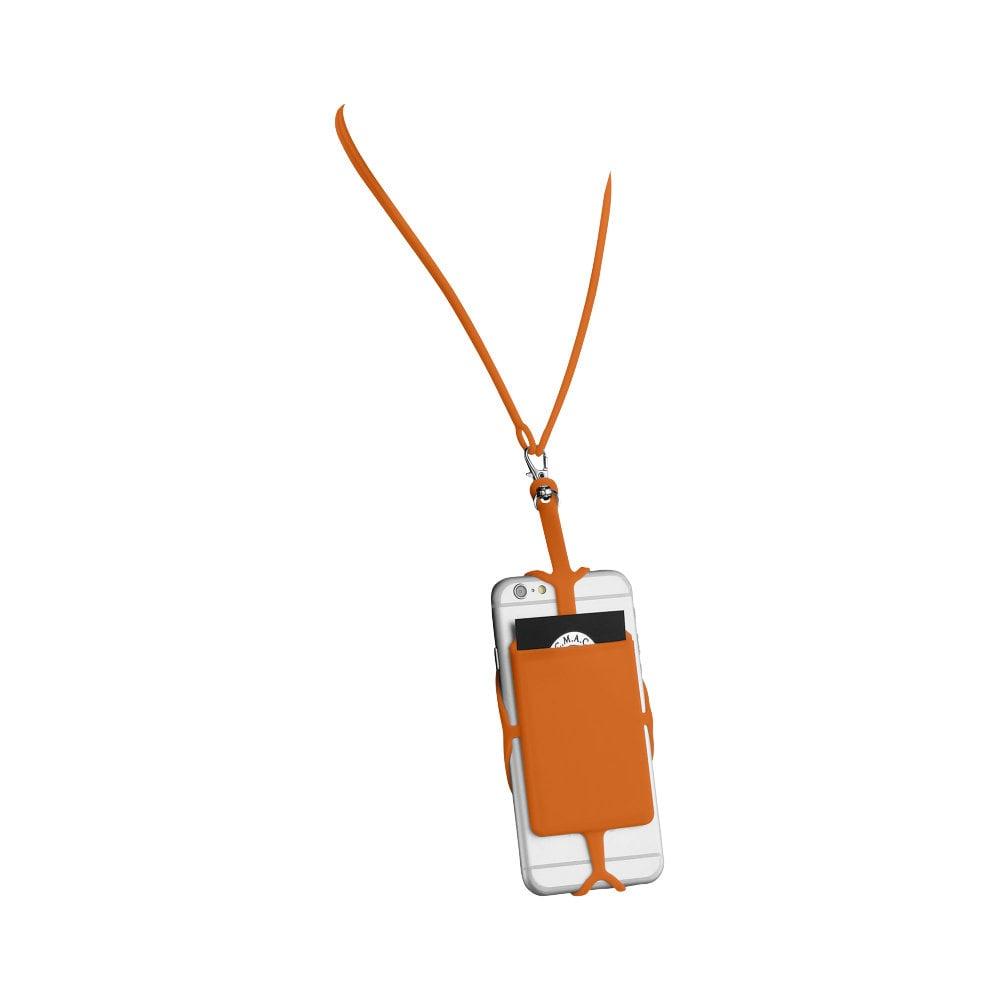 Silikonowy uchwyt RFID ze smyczą na karty kredytowe