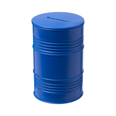 Skarbonka Banc w kształcie beczki na ropę