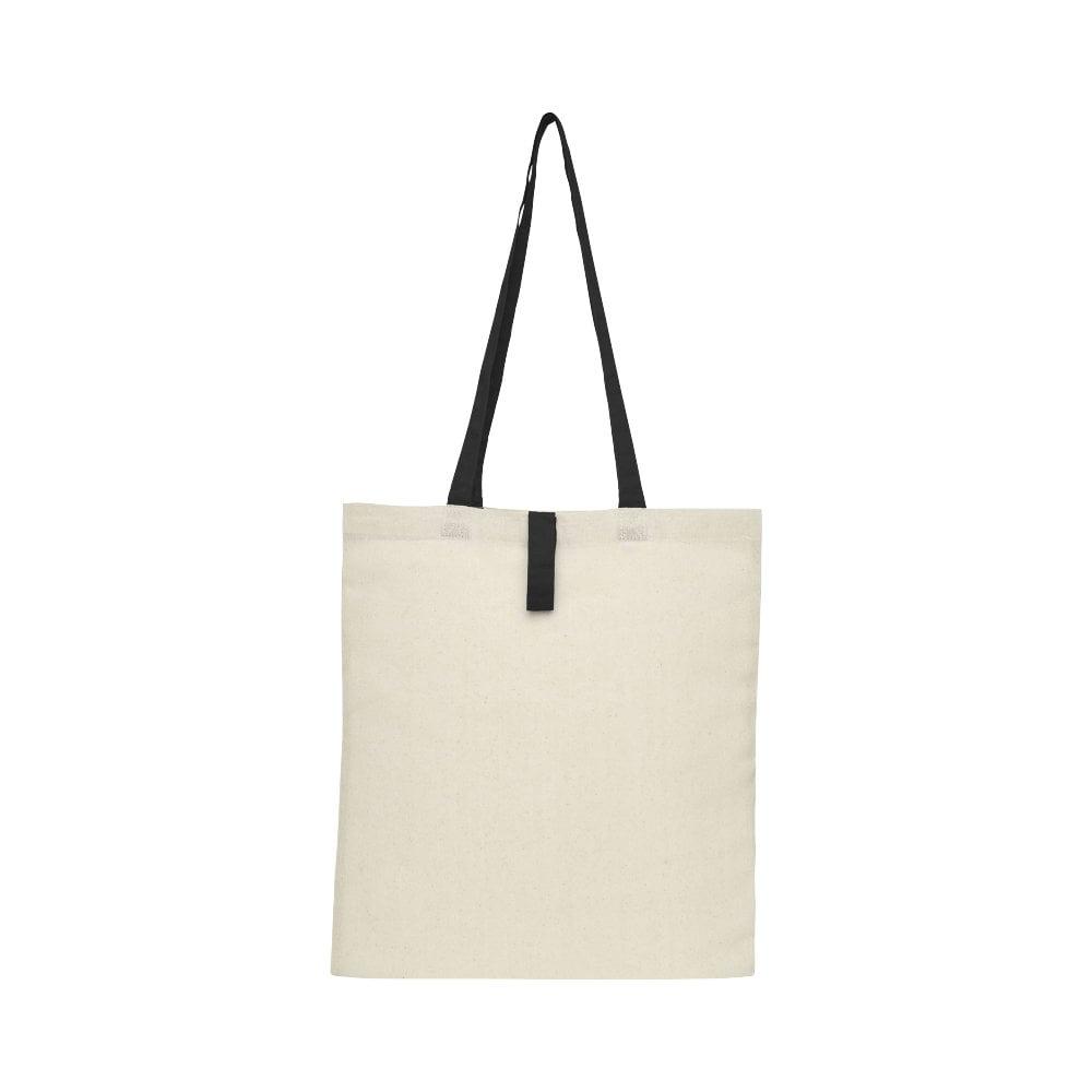 Składana torba na zakupy Nevada wykonana z bawełny o gramaturze 100 g/m²