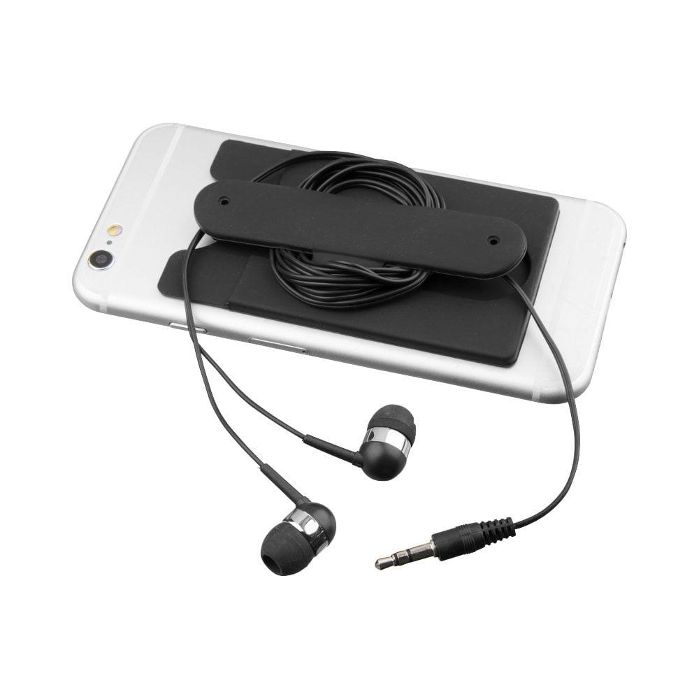 Słuchawki douszne z kablem i silikonowy portfel Wired