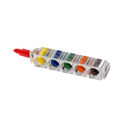 Zestaw 6 kredek świecowych Waxy w przezroczystym opakowaniu