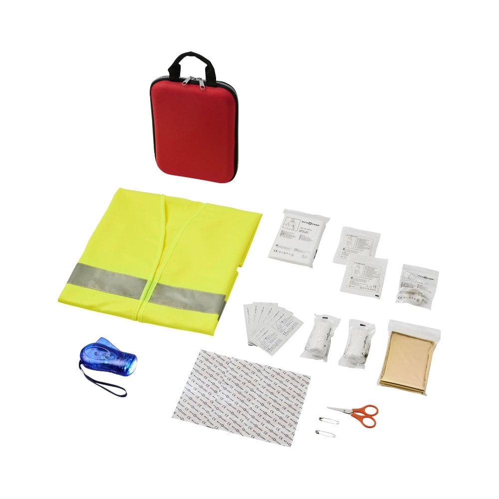 Zestaw pierwszej pomocy Handies 46-elementowy z kamizelką odblaskową