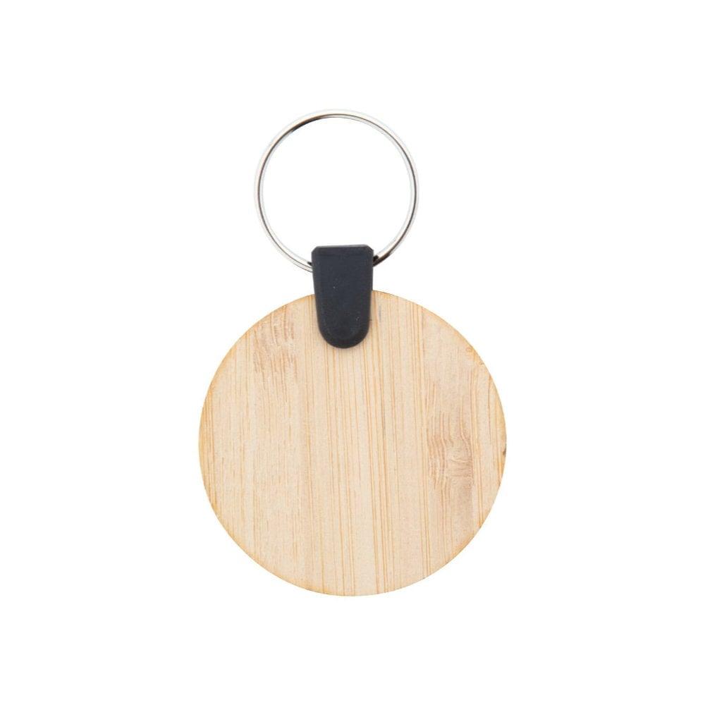 Bambry - brelok bambusowy - okrągły