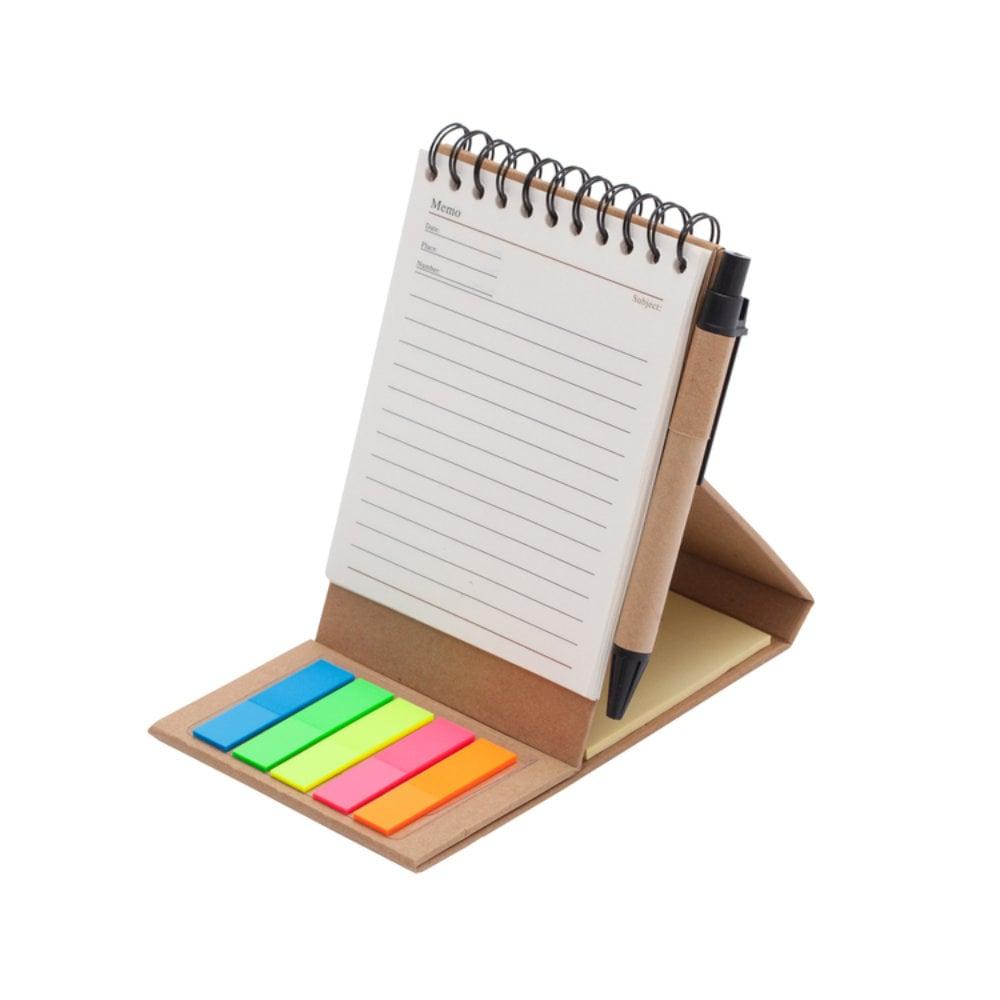 Kołonotatnik 95x115/30k linia z memo i długopisem